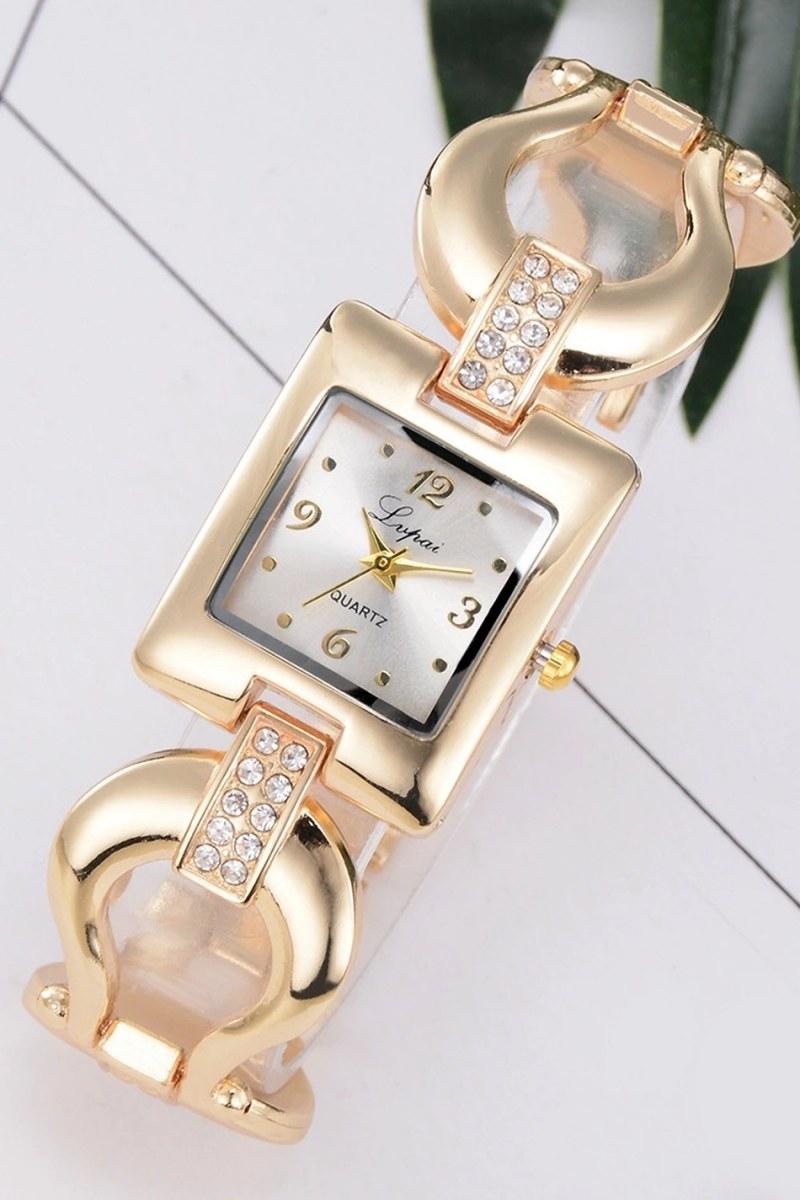 Reloj gold square - dorado