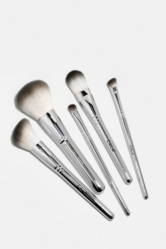 Set de 5 brochas silver chrome - cala