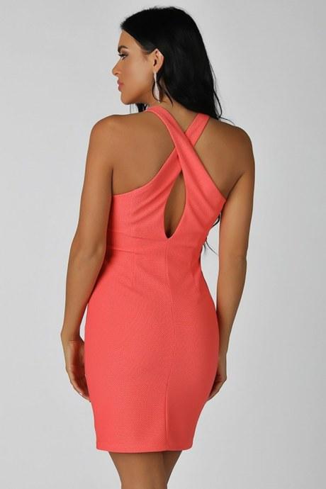 Vestido back crisscross - rosado