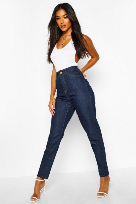 Jeans high waist mom - azul
