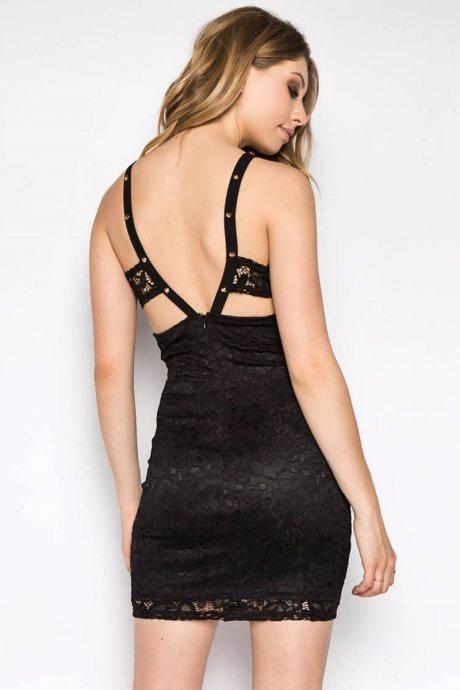 Vestido studded lace