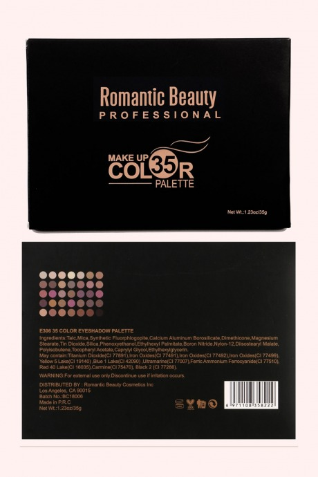 Pelata de sombras 35 colores - romantic beauty