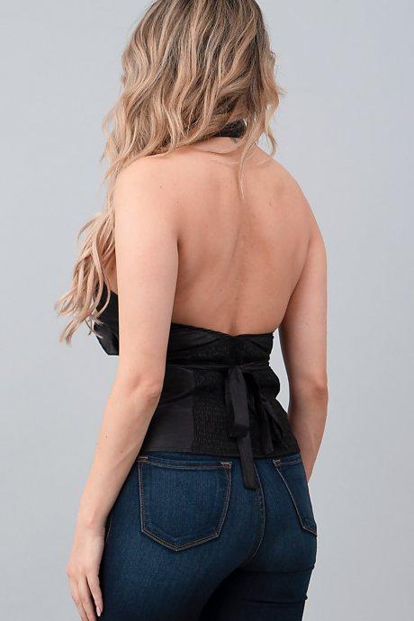 Blusa ruffle front