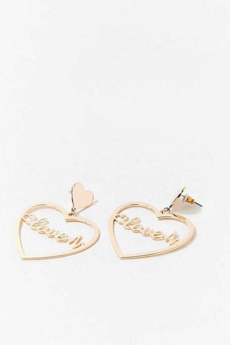 Aretes love heart
