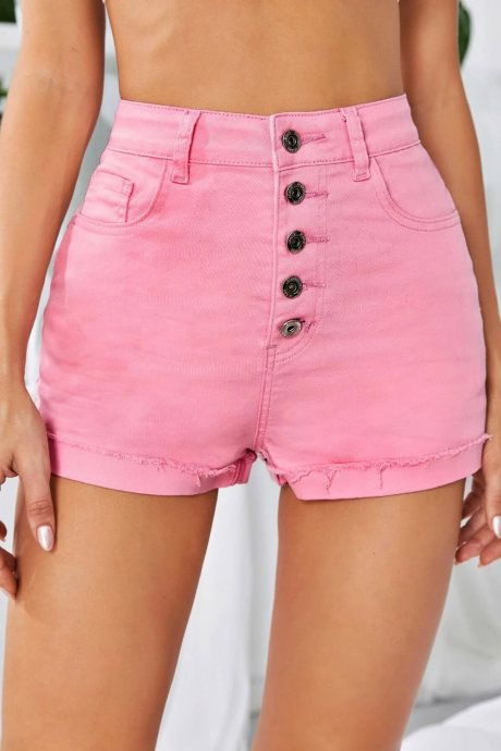 Shorts solid button