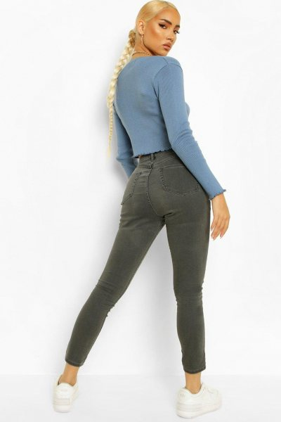 Jeans high waisted distressed