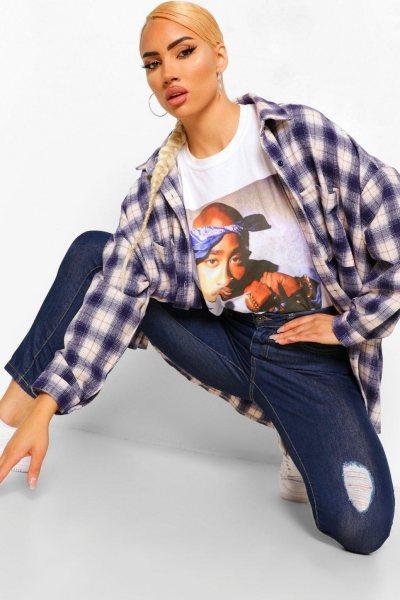 Jeans distressed high waist